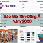 báo giá tôn Đông Á năm 2020