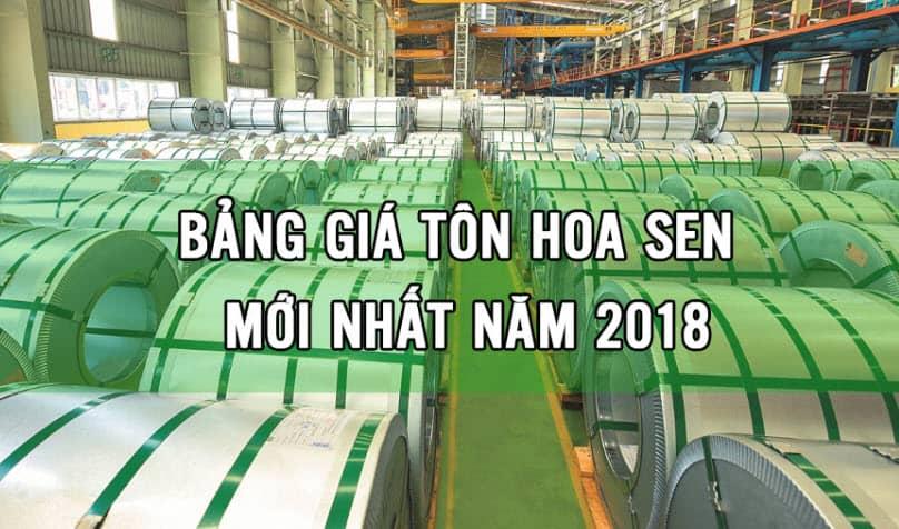 giá tôn hoa sen 2018 mới nhất