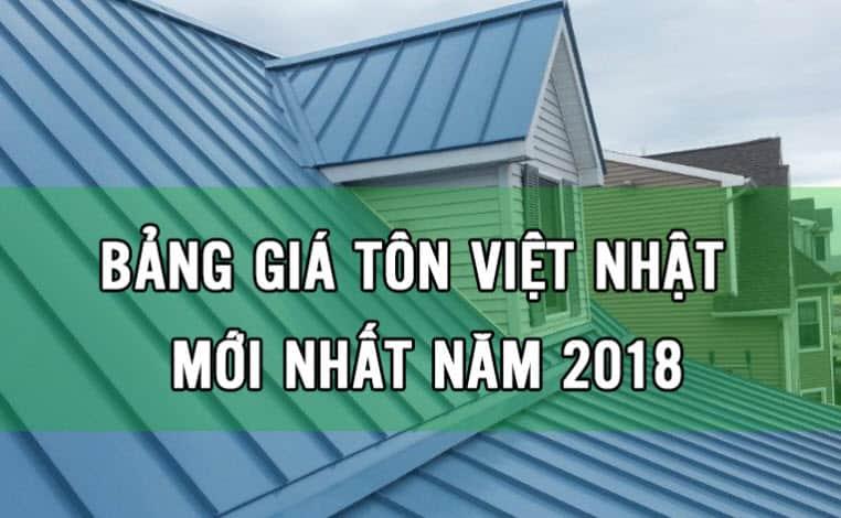 giá tôn việt nhật 2018 mới nhất