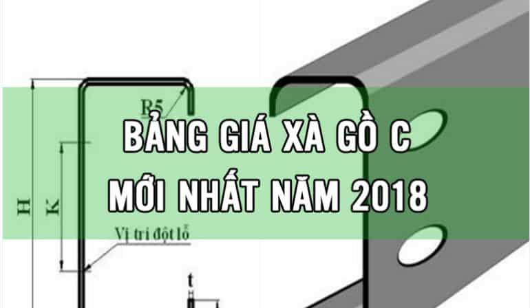 giá xà gồ c 2018