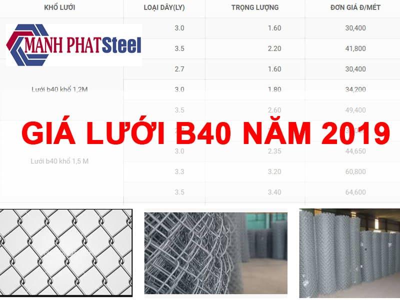 giá lưới b40 2019