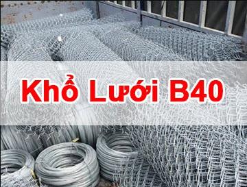 những khổ lưới b40 thông dụng