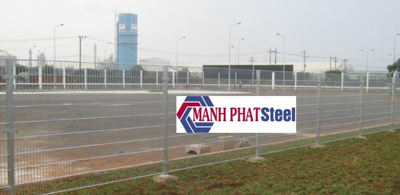 mẫu hàng rào lưới thép b40 tham khảo