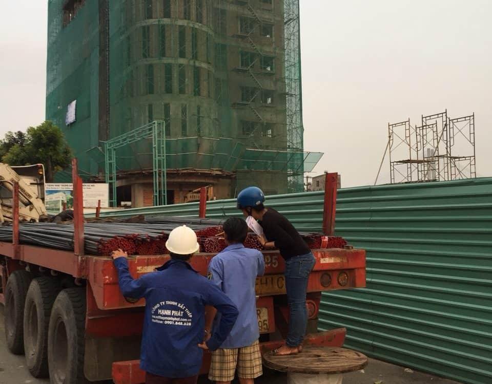 cung cấp sắt thép dự án dragon villa vòng xoay an hữu
